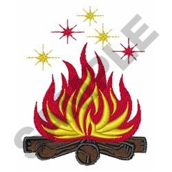 CAMPFIRE SPARKS embroidery design