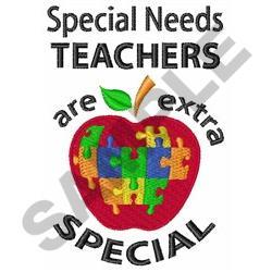 SPECIAL NEEDS TEACHER embroidery design