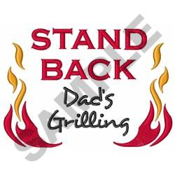 DADS GRILLING embroidery design