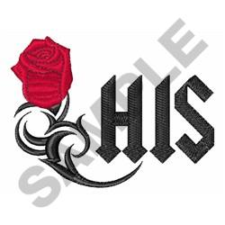 HIS ROSE MONOGRAM embroidery design