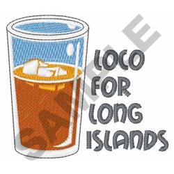 LOCO FOR LONG ISLANDS embroidery design