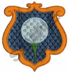 GOLF CREST embroidery design
