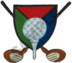 GOLF CREST embroidery design