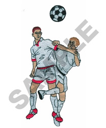SOCCER PLAYERS embroidery design