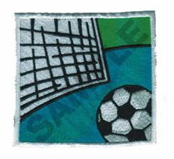 SOCCER BALL & GOAL embroidery design