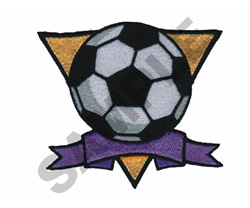 SOCCER BALL CREST embroidery design