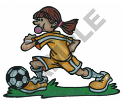ANIMATED SOCCER PLAYER embroidery design