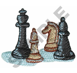 CHESS PIECES embroidery design