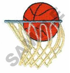 Basketall Swoosh embroidery design