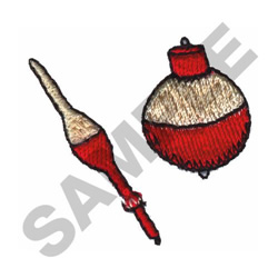 FISHING BOBBERS embroidery design