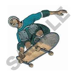 SKATEBOARDER embroidery design