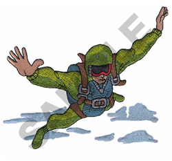 SKYDIVER embroidery design