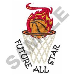FUTURE ALL STAR embroidery design