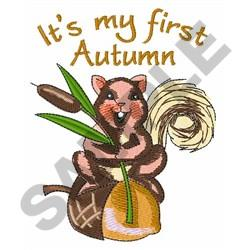 MY FIRST AUTUMN embroidery design