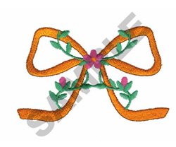 FLOWERS WITH BOW embroidery design