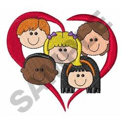 HEART KIDS embroidery design