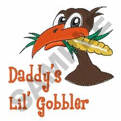 DADDYS LIL GOBBLER embroidery design