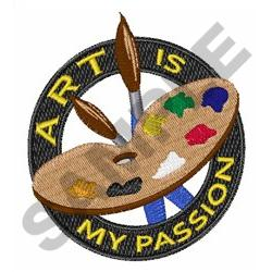 ART IS MY PASSION embroidery design
