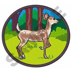 FAWN DEER FOREST embroidery design