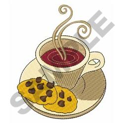 COFFEE AND COOKIES embroidery design