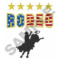 RODEO BULL RIDER embroidery design