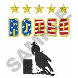 RODEO BARREL RACER embroidery design