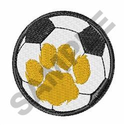 CAT PAW SOCCER embroidery design