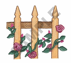 VINES ON A FENCE embroidery design