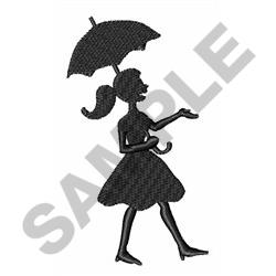 GIRL WITH UMBRELLA embroidery design