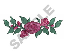 ROSES ON A VINE embroidery design
