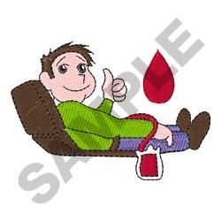 MAN GIVING BLOOD embroidery design