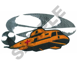 CAREFLIGHT HELICOPTER embroidery design