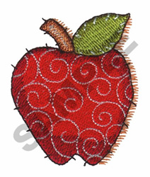 QUILTED APPLE embroidery design