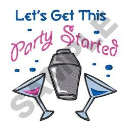 GET THIS PARTY STARTED embroidery design