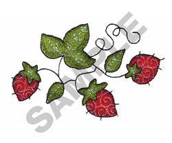 QUILTED STRAWBERRIES embroidery design