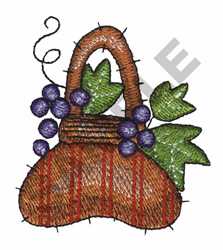 QUILTED GRAPES embroidery design