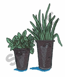 PLANTS embroidery design