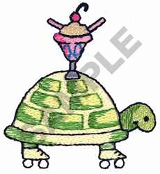 TURTLE WITH ICE CREAM embroidery design