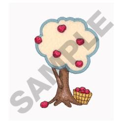APPLE TREE APPLIQUE embroidery design