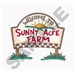 WELCOME ROAD SIGN embroidery design