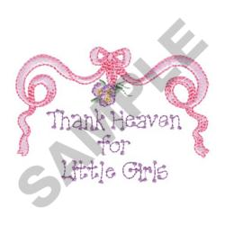 THANK HEAVEN FOR  GIRLS embroidery design