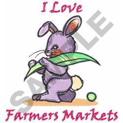 I LOVE FARMERS MARKETS embroidery design
