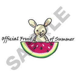 OFFICIAL FRUIT OF SUMMER embroidery design