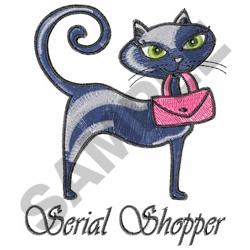 BLACK KITTY AND PURSE embroidery design