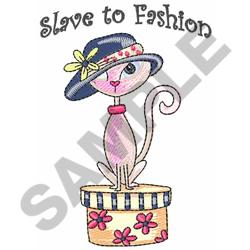 PINK KITTY AND HAT embroidery design