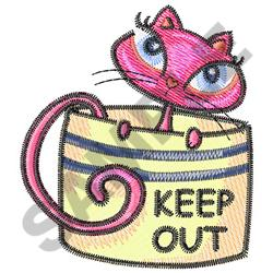 KITTY IN HAT BOX embroidery design