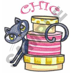 KITTY AND HAT BOXES embroidery design