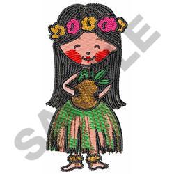 HULA DANCER embroidery design