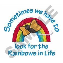 LOOK FOR THE RAINBOWS embroidery design