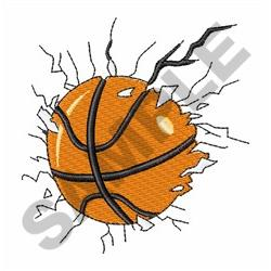 BUSTING BASKETBALL embroidery design
